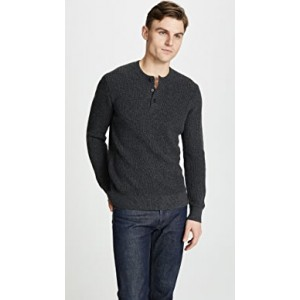 Plaited Henley Sweater