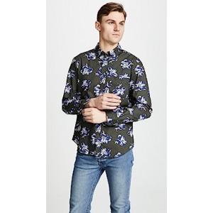 Slim Felting Floral Shirt