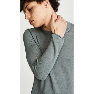 Plaited Linen Crew Neck Sweater