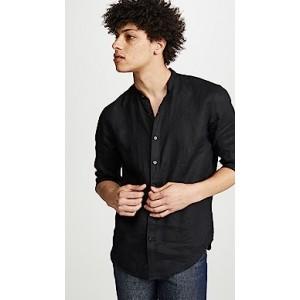 Band Collar Linen Shirt