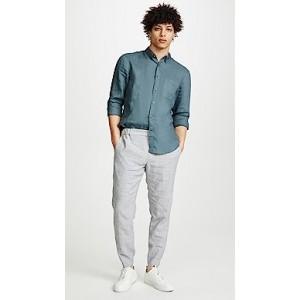 Button Down Solid Linen Shirt