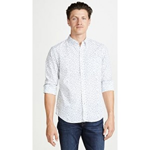 Slim Button Down Agave Ditsy Shirt