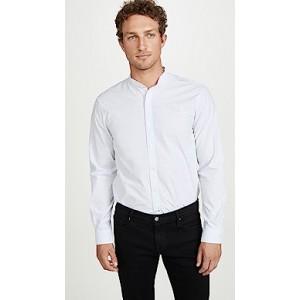 Long Sleeve Barrel Cuff Slub Poplin Shirt
