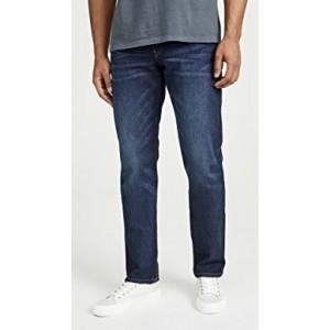 Straight Leg Jeans In Medium Indigo