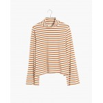 Wide-Sleeve Turtleneck in Stripe