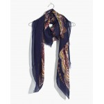 Oversized Paisley Square Scarf