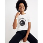 Bliss & Mischief Bliss Happens Smiley Face Tee