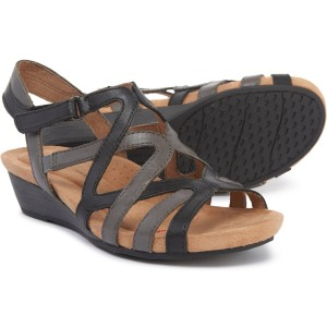 Sable Caged Sandals - Leather (For Women)