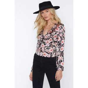 In the Wrap Game Floral Top