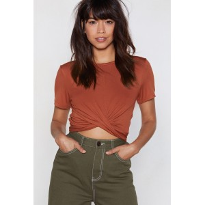 What a Twist Cropped Tee