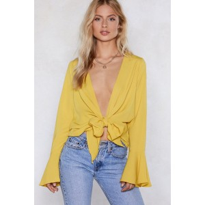 Knot Bothered Tie Blouse