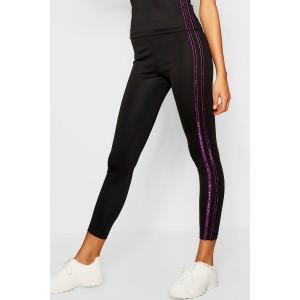 Fit Glitter Side Stripe Leggings