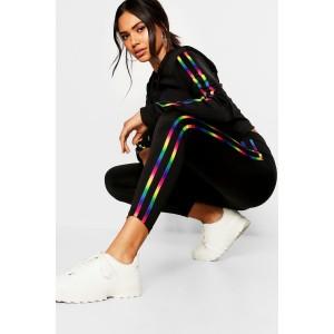 Fit Rainbow Side Stripe Leggings