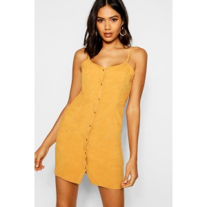 Popper Front Cord Dress