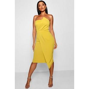Zoey Bandeau Wrap Detail Midi Dress