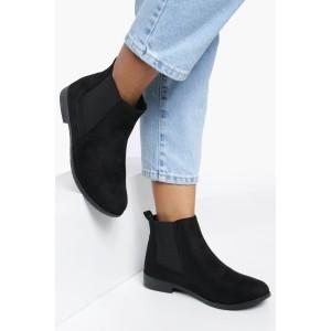 Suedette Flat Chelsea Boots