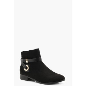 Wrap Strap Chelsea Ankle Boots