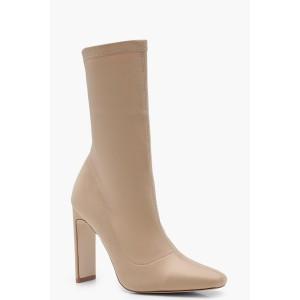 Slim Straight Heel Sock Boots
