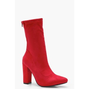 Suedette Sock Boots