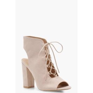 Peeptoe Open Lace Shoe Boots