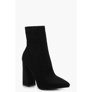 Flared Suedette Sock Boots