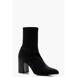 Pointed Toe Heel Sock Boots