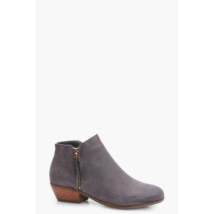 Zip Trim Chelsea Ankle Boots