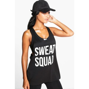 Fit Sweat Squad Slogan Running Vest