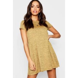 Short Sleeve Knitted Swing Dress