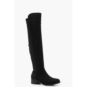 Elastic Back Flat Over Knee Boots