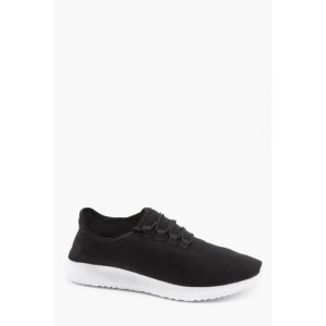 Jersey Marl Lace Up Running Trainers