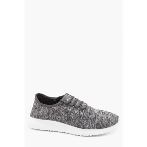 Jersey Lace Up Running Trainers