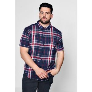 Big And Tall Multi Check Short Sleeve Shirt