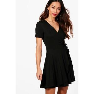 Petite Wrap Skater Dress