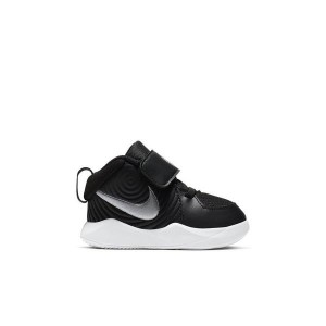 Nike Team Hustle D 9 Black/Wolf Grey Toddler Kids Basketball Shoe
