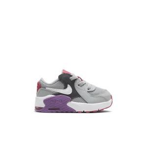 Nike Air Max Excee Grey Fog/Purple Nebula/Watermelon/White Toddler Unisex Shoe