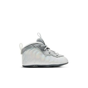 Nike Little Posite One Smoke Grey/White/Blue Fury Infant Crib Bootie