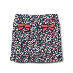 Floral Corduroy Skirt