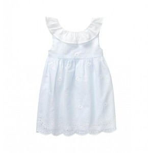 Eyelet Striped Dress