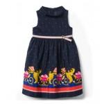 Floral Scarf Border Dress