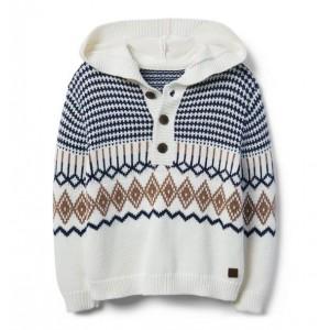 Hooded Fair Isle Sweater