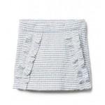 Ruffle Boucle Skirt