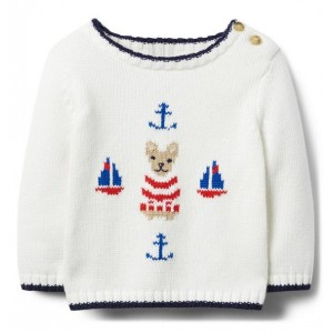 Nautical French Bulldog Sweater