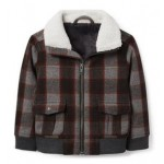 Plaid Wool Aviator Jacket