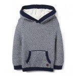 Bird's Eye Stitch Hooded Pullover