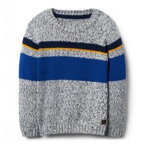 Striped Marled Crewneck Pullover