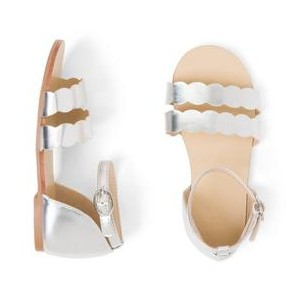 Metallic Scalloped Sandal