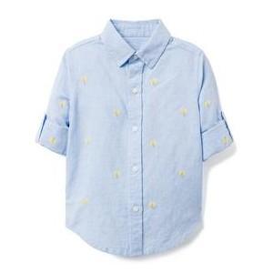 AERIN Embroidered Linen Shirt