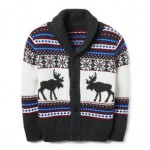 Fair Isle Moose Cardigan