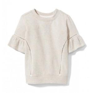 Marled Ruffle Sweatshirt